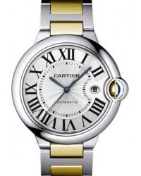 Cartier Ballon Bleu  Automatic Men's Watch, 18K Yellow Gold, Silver Dial, W69009Z3