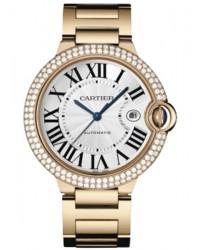 Cartier Ballon Bleu  Automatic Men's Watch, 18K Rose Gold, Silver Dial, WE9008Z3