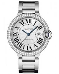 Cartier Ballon Bleu  Automatic Men's Watch, 18K White Gold, Silver Dial, WE9009Z3