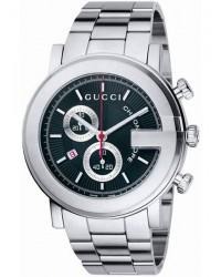 Gucci G-Timeless  Chronograph Quartz Men's Watch, Stainless Steel, Black Dial, YA101309