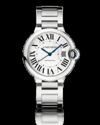 Cartier Ballon Bleu  Automatic Women's Watch, Stainless Steel, Silver Dial, W6920046