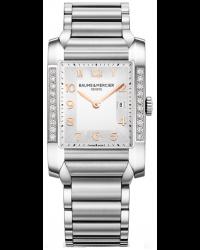 Baume & Mercier Hampton Classic  Quartz Men's Watch, Stainless Steel, Silver Dial, MOA10023