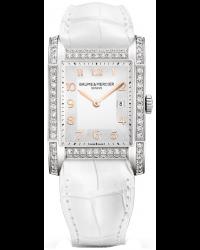 Baume & Mercier Hampton Classic  Quartz Women's Watch, Stainless Steel, Silver Dial, MOA10025