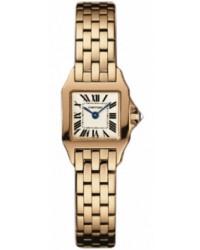 Cartier Santos Demoiselle  Quartz Women's Watch, 18K Rose Gold, White Dial, W25077X9