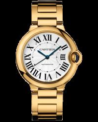 Cartier Ballon Bleu  Automatic Women's Watch, 18K Yellow Gold, Silver Dial, W69003Z2