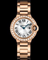 Cartier Ballon Bleu  Automatic Women's Watch, 18K Rose Gold, Silver Dial, WE9002Z3