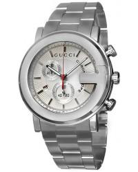 Gucci G-Chrono  Chronograph Quartz Men's Watch, Stainless Steel, Silver Dial, YA101339