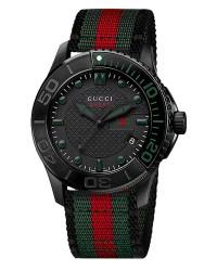 Gucci G-Timeless  Quartz Men's Watch, PVD, Black Dial, YA126229