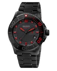Gucci G-Timeless  Quartz Men's Watch, PVD, Black Dial, YA126230