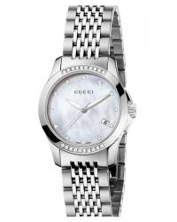 Gucci G-Timeless  Quartz Women's Watch, Stainless Steel, White Dial, YA126510