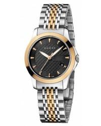 Gucci G-Timeless  Quartz Women's Watch, Gold Plated, Black Dial, YA126512
