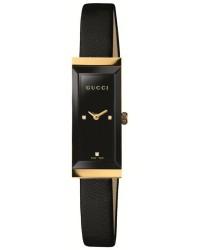 Gucci G-Frame  Quartz Women's Watch, 18K Yellow Gold, Black Dial, YA127506