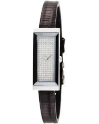 Gucci G-Frame  Quartz Women's Watch, Stainless Steel, Diamond Pave Dial, YA127509